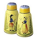 Quimper Soleil Yellow Salt & Pepper Shakers