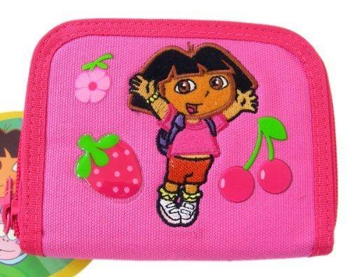 Nick Jr Dora The Explorer Wallet - Strawberry & Cherry zip wallet