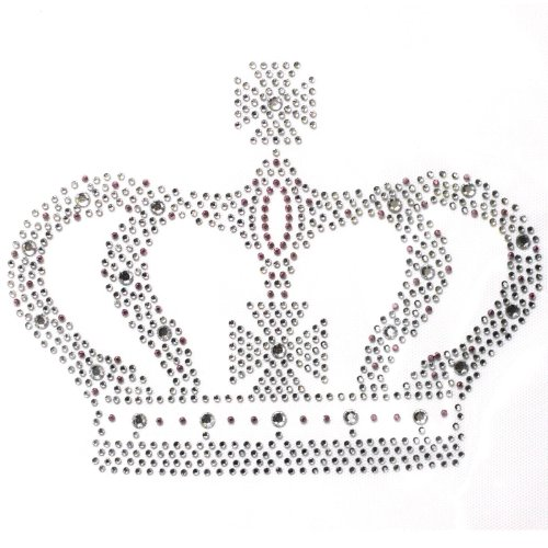ransfer Hot Fix Motif Large Crown Crystal Design 3 Sheets 9 7 Inch ()