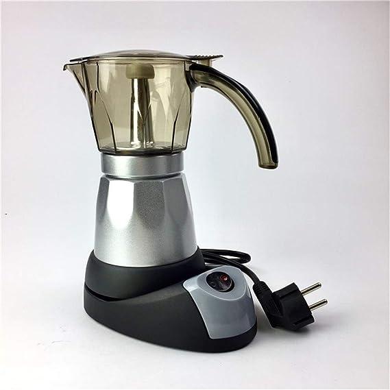 Cafetera 6 Tazas 300 ml Cafetera Espresso eléctrica Cafetera Italiana Moka Cafetera Percoladora Cafetera Moka Pot V60 Filtros Máquina de café Mocha (Color : Silver): Amazon.es: Hogar