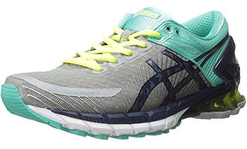 ASICS Women's Gel-Kinsei 6 Running Shoe, Light Grey/Titanium/Mint, 9 M US by ASICS