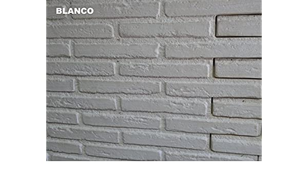 Polima Panel ladrillo Decorativo de Poliuretano, Blanco, Medidas Ancho 103 Alto 88 Grueso 3.: Amazon.es: Bricolaje y herramientas