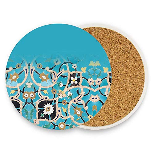 Jidmerrnm Bird In Heaven Absorbent Ceramic Coasters for Drinks Water-absorbent Quick-drying Coaster Cup Mats