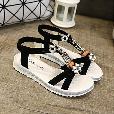 Confort Informal Pu La RTRY Lienzo Plano Blanco Confort De Mujer EU35 US5 Sneakers Resorte CN34 UK3 BY1Tq