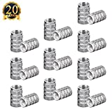 #3: SUBANG 20pacs Car Auto Tyre Tire Valve Stem Covers Caps, Silver