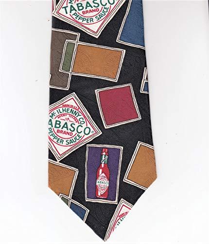 Tabasco Hot Pepper Sauce 100% Imported Silk Tie Necktie Classic Design