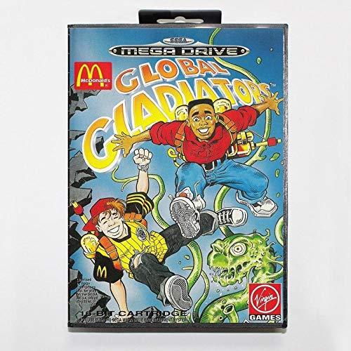 Sega MD games card - Global Gladiators with box for Sega MegaDrive Video Game Console 16 bit MD card - MD card Game Card For Sega Mega Drive For Genesis