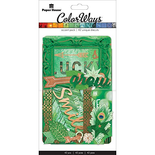 Dca Collections - Paper House Productions DCA-0003E Die Cut Assortment, Emerald Accents (3-Pack)