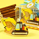 Mini Cartoon Digger Baby Boy's Birthday Candles Cake Topper Party Decoration