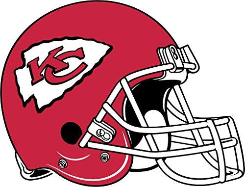 skyhighprint - Kansas City Chiefs NFL Football Sport Decor Vinyl Print Sticker 14'' X 10''