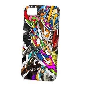 TYH - Case Fun Apple iPhone 5C Case - Vogue Version - 3D Full Wrap - Multi Coloured Trainers ending phone case