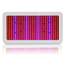 Lvjing High Power 600w LED Grow Light Panel with UV/IR Light, Full Spectrum, 594pcs 5730SMD Chip, AC 85~265V, Perfect Lighting for Greenhouse Hygroponics and Indoor Plant Flowering Growing (White)