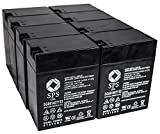 SPS Brand 6V 14 Ah Terminal T1T2 Replacement Battery for Carpenter Watchman 610850R000 (8 PACK)