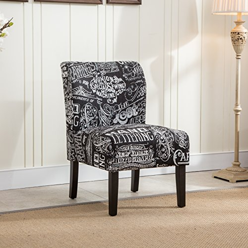 Fabric Black Living Room Accent Chairs