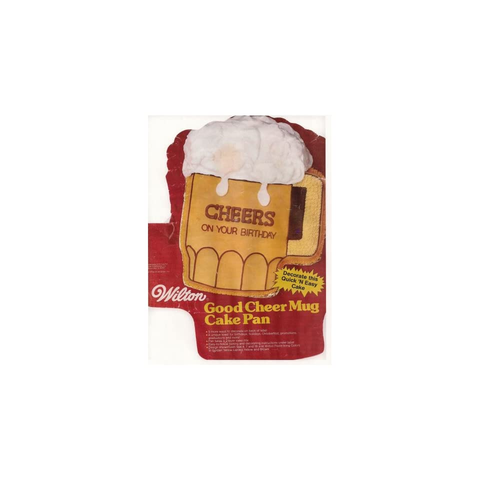 Wilton Cake Pan Good Cheer Mug/Beer Mug (502 3965, 1984)