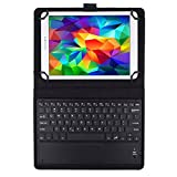 JETech Bluetooth Wireless Keyboard Leather Smart Case with Touchpad for 9 Inch and 10 Inch Tablet PC including Samsung Galaxy Tab 3, Tab 4, Tab A, Tab S2 9.7 10.1 and More - 2154