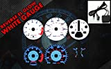 Brand New White Face Blue Indigo Reverse Glow Gauges For 90-93 Accord 2.2 MT (-CHA-90-93-MA)