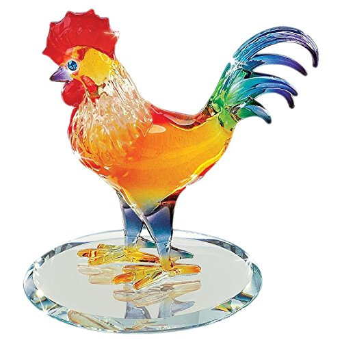 (Glass Baron Sunrise Rooster Figurine )