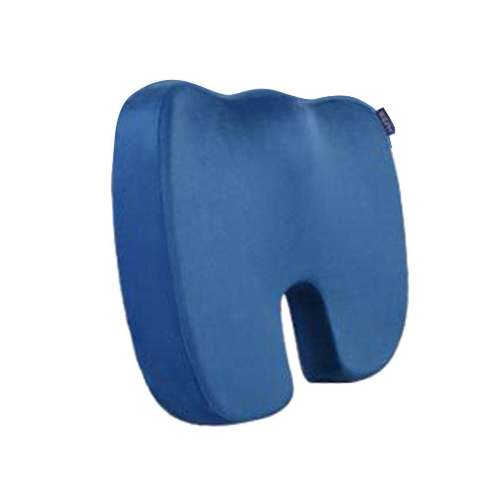 laamei Cuscino ortopedico in memory foam cuscino portatile ortopedico Cuscino di sedile Alivio del dolor per emorroidi, prostata, Gravidanza, Post Natal, post Cirugía e ciática blu