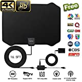 2018 NEWEST TV Antenna,Indoor Amplified Digital HDTV Antenna 50+ Mile Range with 4K