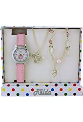 Relda Kids Horse Jewellery & Watch, Necklace & Bracelet Gift Set For Girls REL24