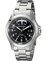 Hamilton Mens H64455133 Khaki King II Black Dial Watch