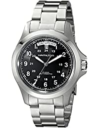 Men's H64455133 Khaki King II Black Dial Watch