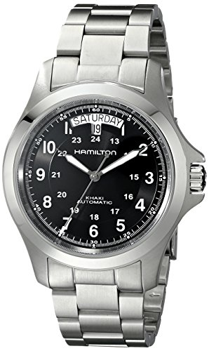 Hamilton Men's H64455133 Khaki King II Black Dial Watch by Hamilton