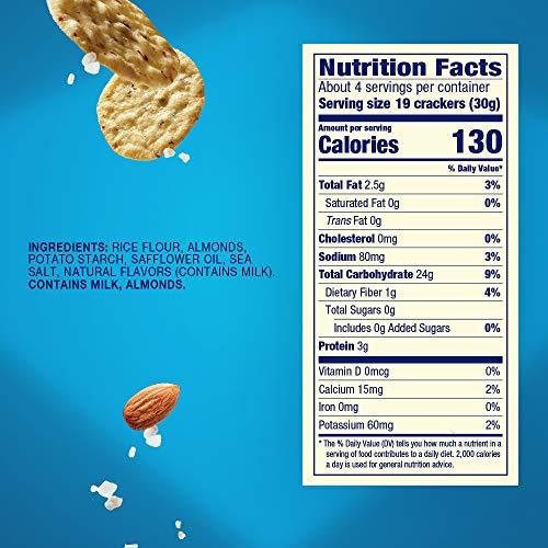 Blue Diamond Almonds Nut Thins Cracker Crisps, Hint of Sea Salt, 4.25 Ounce (Pack of 12- Total 51 Ounce)