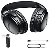Bose QuietComfort 35 (Series II) Bluetooth Wireless Noise Cancelling Headphones - Black & Car Charger - Bundle
