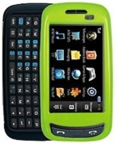 Amzer Polished Snap-On Crystal Hard Case for Samsung Impression A877 - Neon Green (Case A877 Crystal)