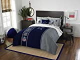 Dallas Cowboys 7 Piece FULL -'Soft & Cozy' Applique Comforter Set - Includes: (1 Full Comforter, 1 Flat Sheet, 1 Fitted Sheet, 2 Pillow Cases, 2 Pillow Shams) SAVE BIG ON BUNDLING!