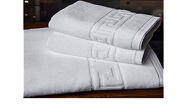 ... Juego DE Toallas Blancas 100% algodón 400 Gramos para Lavabo Y BAÑO, Compuesto por 2 Toallas de 50x100 cm y 2 DE 70x140 cm PERFECTAS para HOSTELERIA.