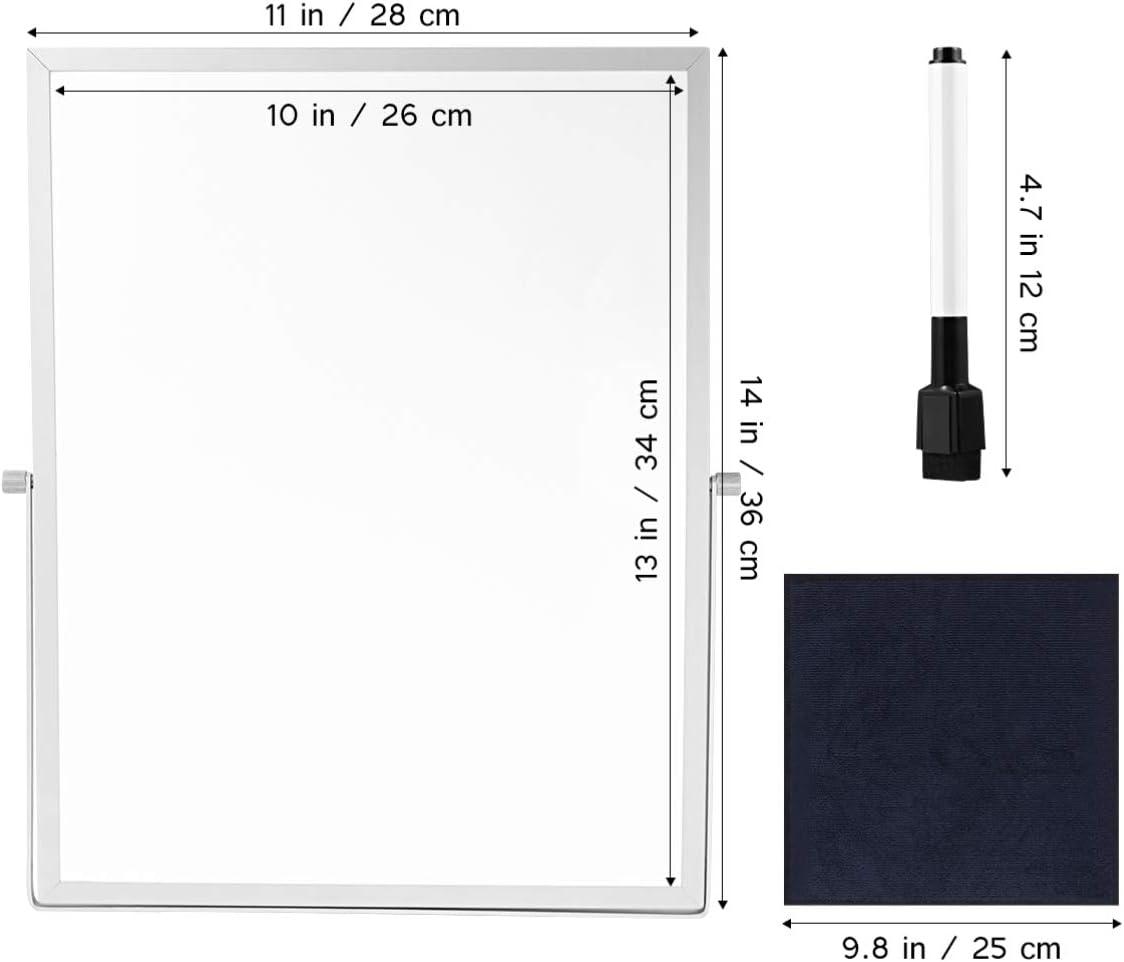 STOBOK Pratique magn/étique tableau effa/çable stand double face utile tableau blanc planificateur rappel pour la maison /école de bureau
