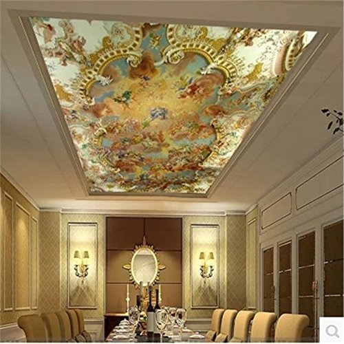 300cmX210cm photo wallpaper Zenith ceiling fresco Jesus Faith ceiling painting modern European hotel KTV 3d wall mural wallpaper,300cmX210cm by ZLJTYN