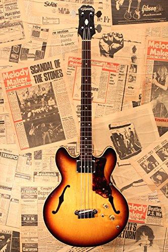 "Epiphone usado 1966 eb232 ""Rivoli"" Bass guitarra"