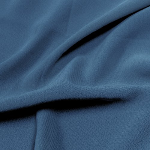 Blue Steel 59'' Poly Hi-Twist Chiffon Fabric by the Yard ()