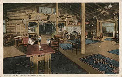 Rendezvous, El Tovar Hotel Grand Canyon National Park Original Vintage Postcard from CardCow Vintage Postcards