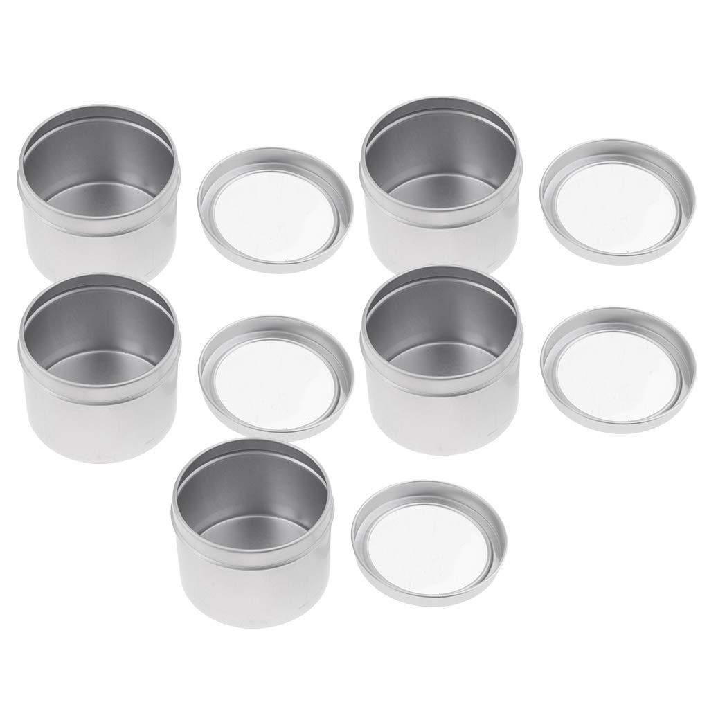 IPOTCH 15pcs Bo/îtes en Aluminium Vides Boite /à Chauffe-Plat Bougie Citronnelle avec Coupelle Aluminium