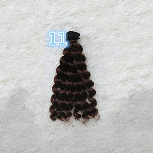 Kekailu Wigs 20x100cm DIY Cute BJD SD Dolls Curly Long Wig Synthetic Hair Style Accessories - #11 1 Pack -
