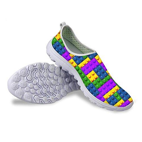 Pour U Conceptions Mode Plaid Unisexe Respirant Slip Occasionnel Sur Les Chaussures De Course Pour Les Femmes Hommes Plaid-6