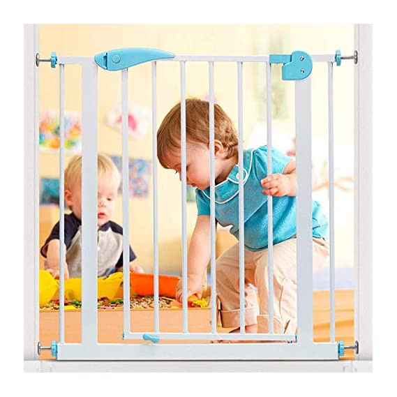 TOUARETAILS Metal Baby Safety Gate with Secret Lock & Two Way Auto Close Baby Safety Gate for Infant Baby Toddler and