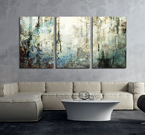 3 Panel Abstract Grunge Color Compositon Gallery x3