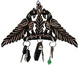 SKAVIJ Key Holders for Wall Decor Wooden Wall Mounted Key Rack Hanger Peacock Design
