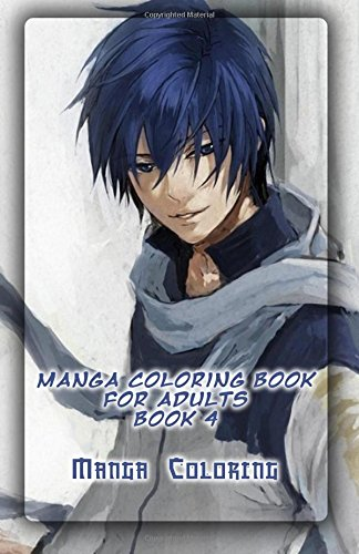 Manga Coloring Book For Adults 4 Books Of