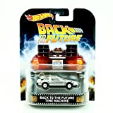 TIME MACHINE from the classic 1985 film BACK TO THE FUTURE Hot Wheels 2015 Retro Series 1:64 Scale Die Cast Vehicle