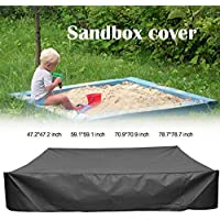 Maius Sandbox Cover, Square Dustproof Protection Sandbox Canopy with Drawstring, Waterproof Sandpit Pool Cover, Avoid The Sand and Toys Contamination (Black, S(120120cm))