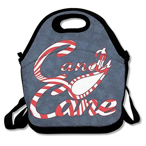 - Reusable Cooler Bag For Men Women Adults Kids Toddler Nurses With Adjustable Shoulder Strap - Best Travel Bag - Candy Cane Border Clip Art Clipart ()