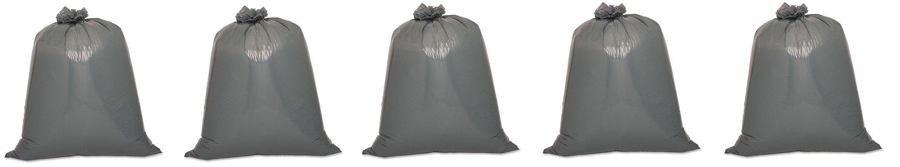 Genuine Joe GJO70343 Maximum Strength Low-Density Resin Trash Can Liner, 55 gallon Capacity, 56'' Length x 39'' Width x 1.55 mil Thickness, Black (Case of 50) (5-(Case of 50))