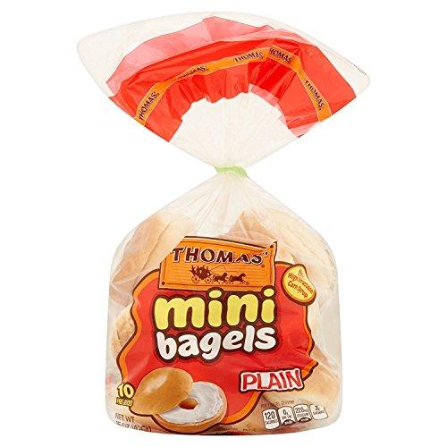 Thomas Mini Plain Pre-sliced Bagels 15 Oz 2 Packs